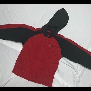 Nike Bulls Red Windbreaker Hoodie Full Zip Jacket